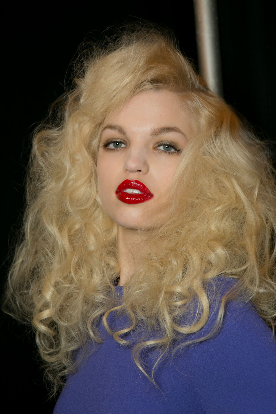 Daphne Groeneveld backstage at Marc by Marc Jacobs Fall Winter 2013 | NYFW