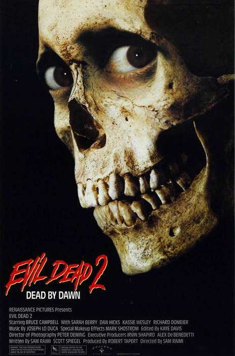 my-film-diary2013:  #19 Evil Dead 2 (1987) by Sam Raimi The lone survivor of an onslaught of flesh-possessing spirits holds up in a cabin with a group of strangers while the demons continue their attack.