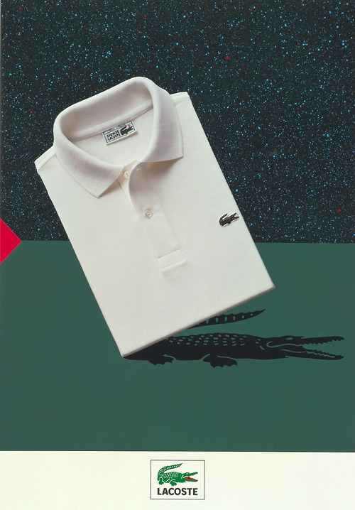lacoste:  The Lacoste iconic L.12.12 polo shirt. From the Lacoste S.A. Archives. © All Rights Reserved