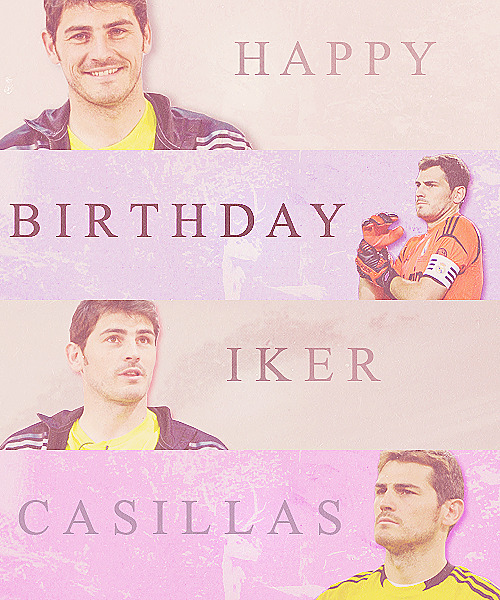 yallamadrid:  HAPPY BIRTHDAY IKER! https://www.facebook.com/Yala.Madrid