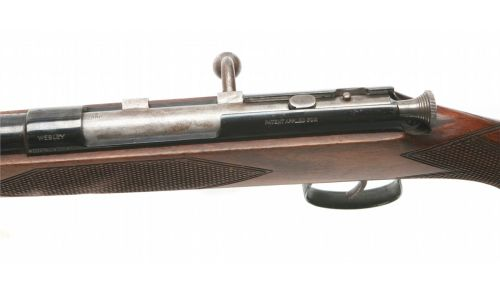 A Webley bolt action shotgun chambered for .410.