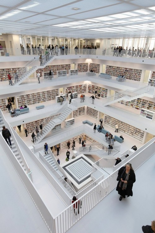 This modern behemoth of a library has people talking… do you think it's too white and stark, or are you enamored of the clean design? Click the photo for more images!