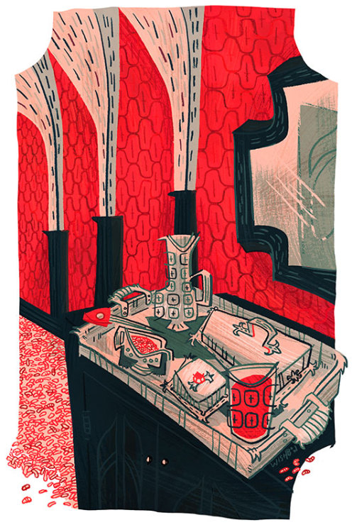 I did a piece for the Movie Suspiria for Silver Screen Society. They're all up there now so I feel safe putting this dude up here.  Suspiria is a super weird movie that made me uncomfortable many, many times but damned if it wasn't really pretty. There's this super bright pink that permeates the entire movie, it is pretty neat. There's lots of death and a really terrible German Shepard puppet. Check it out if you feel like you're a messed up individual.