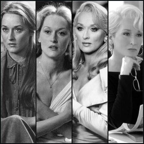 dressed-in-chains:  The Streep  the fact that the first photo is from 1979 and the fourth is from 2006 (27 years apart) just blows my mind