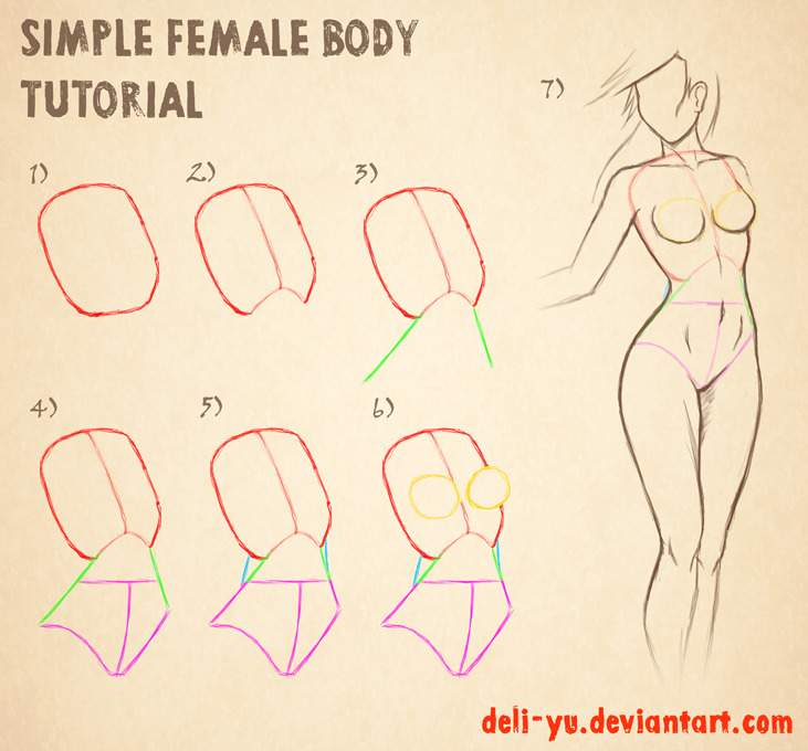 Simple Female Body Tutorial by *deli-Yu
