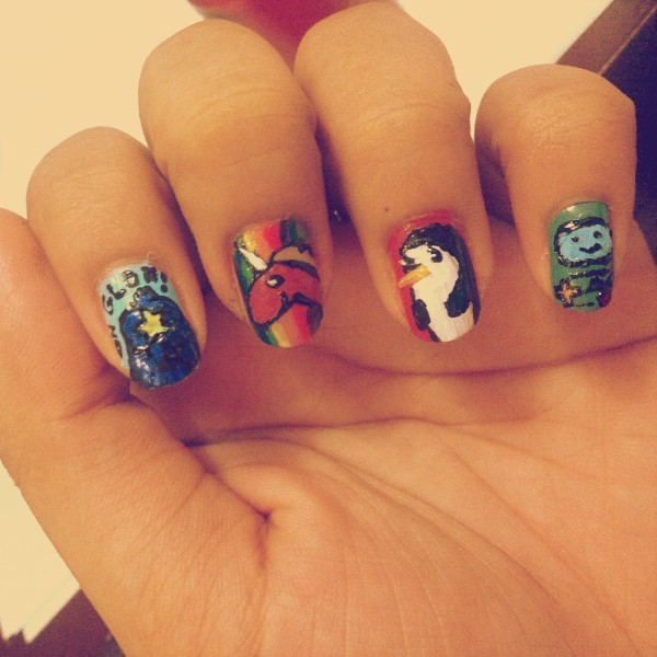 #adventuretime lovers! :3 #nailart @karensmiley7 @mielearl (Photo taken and uploaded via MOLOME )