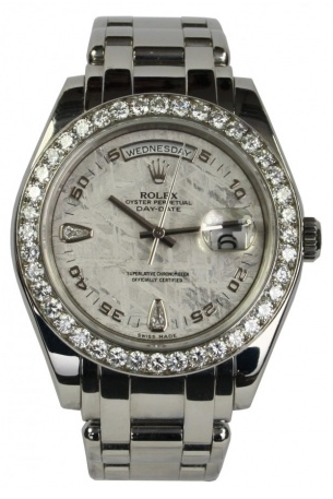 a $60,000 vintage Rolex Pearlmaster w/just enough (real) bling for a king!
