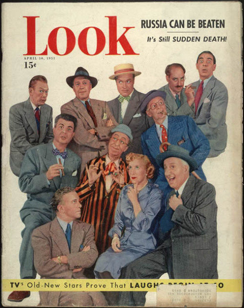 tonightsbroadcast:   Look Magazine Tribute to Vaudevillians on Television, 1951