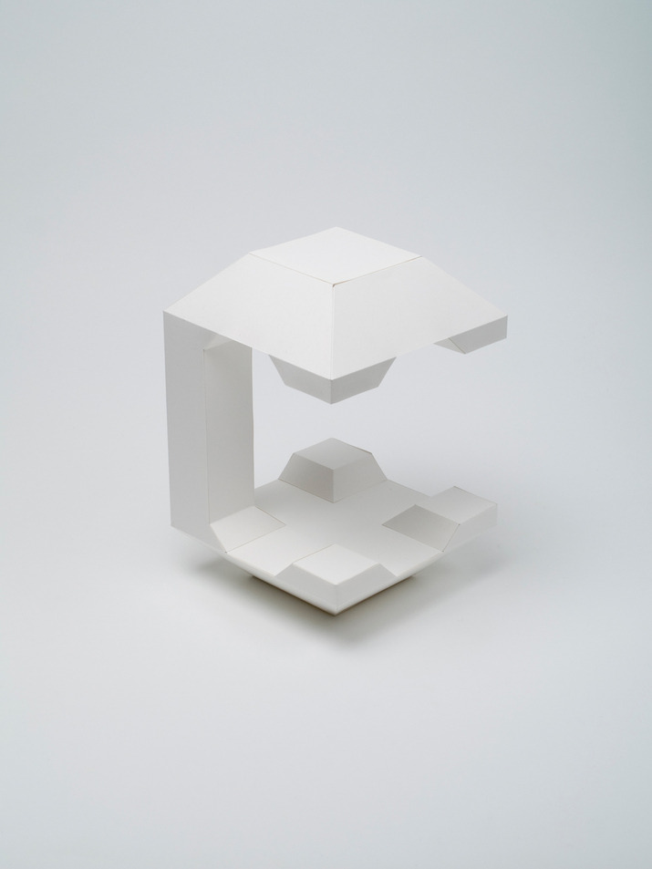 "maybeitsgreat:  4D Type, 2011 by Lo Siento from Spain ""4D Typography is the result of intersectioning, in an orthogonal way in space, two extrusions of the same character, which allows the spectator to read it from, minimum, two different positions in space. An observer searching to enjoy a particular architecture, is forced to move around and through it. The change in perspective generates new spaces in which light acts in different ways. In this case, it is the typography who makes the effort of abandoning its two dimensions to approach the architectural sense. It does not resign with a third dimension; a fourth one is necessary to complete the reading possibilities. By hanging the typography, the reader is allowed to surround the characters in order to understand all their shapes."""