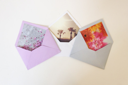 DIY personalized envelope lining via Free People