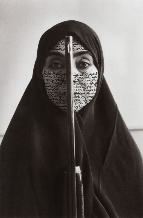 theonlymagicleftisart:  Shirin Neshat - Rebellious Silence, 1994. RC print and ink