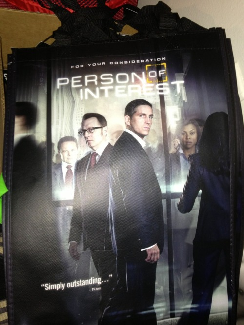 wondersofrandomness:  cindy4ever:  Tote bag of Person of Interest  HOW TO GET TOTE BAG?  I WANT