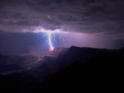 #grand_canyon, #desert, #landscape, #lightning, #west, #united_states, #photoset
