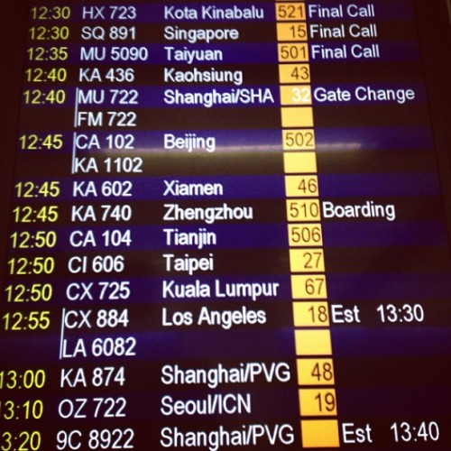 Where to next? #airport #destinations #travel  (at Hong Kong International Airport | HKG | 香港國際機場)