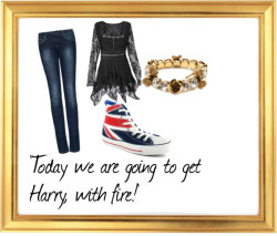 'Today we are going to get Harry, with fire!' van mysweetie-cat met red shoesP82365 S - New Age, Spiritual Gifts, Yoga, Wicca, Gothic, Reiki,… / Mango skinny jeans, $24 / Converse red shoes, $97 / Betsey Johnson  jewelry