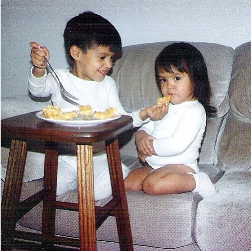 Happy Siblings Day!! Apparently I didn't cook very well. #throwbackanyday