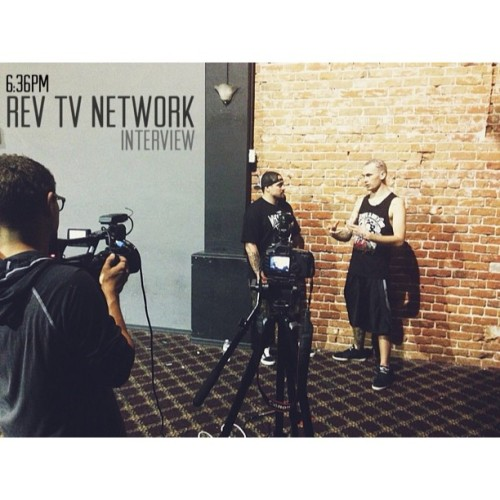 6:36PM - RevTV Network Interview | Shooting an interview for a heavy music TV show in Mesa, AZ. (at The Hard & Relentless Tour)