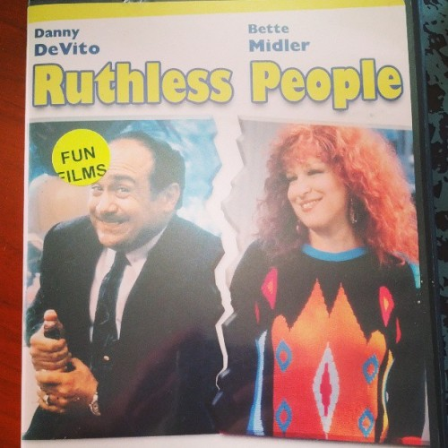 Looks like date night! #RuthlessPeople #80sMovieEducation #BetteMidler #RuthlessSweaters #DannyDeVito #Divas