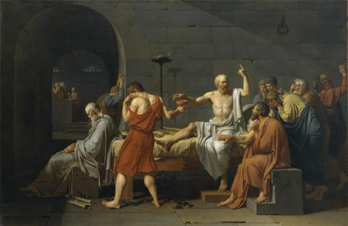 lonequixote:  The Death of Socrates ~ Jacques-Louis David