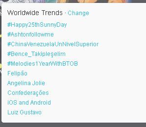 Check out the top world wide trend! #Happty25thSunnyDay Happy Birthday Lee Sunkyu!  (In Korea time)