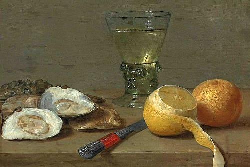 Jacob Foppens van Es Still Life with Oysters 17th century