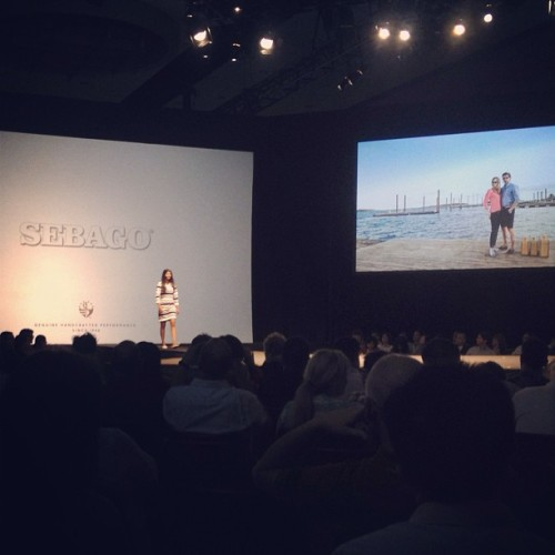 Yesterday's #Sebago Spring/Summer 2014 fashion show; it was pretty cool seeing the shoes in action on the runway.