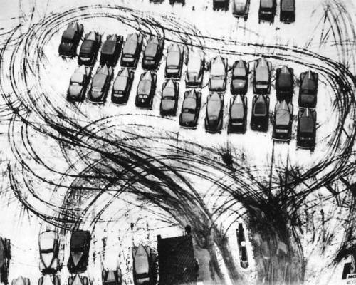 Parking in winter, Chicago 1928* by László Moholy-Nagy
