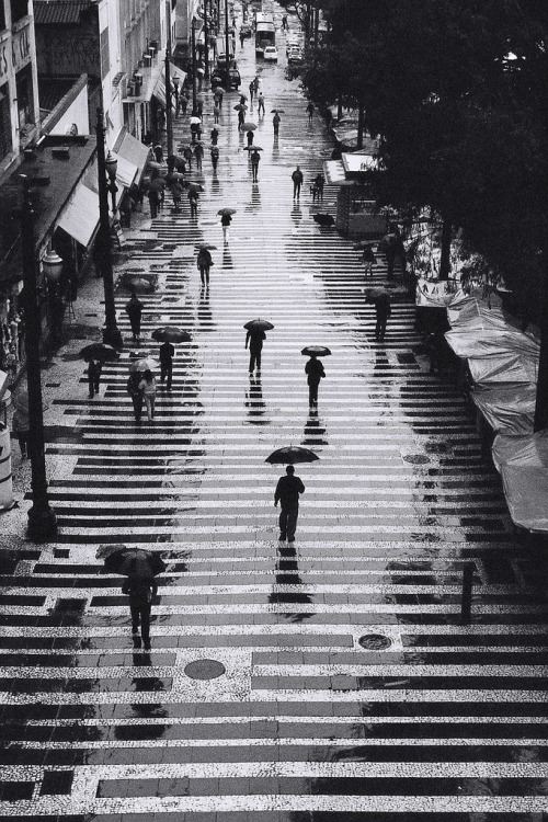 yoadribaby:  Bird's eye view of umbrellas on a rainy day will always be my favorite kind of photo.