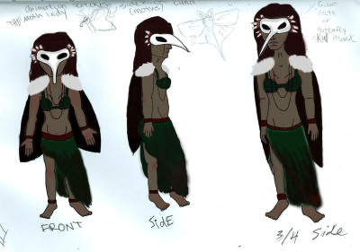 Character design for my animation class, I think it didn't turn out too bad, might need some touch ups.Sketched out in pencil then painted in Photoshop CS6