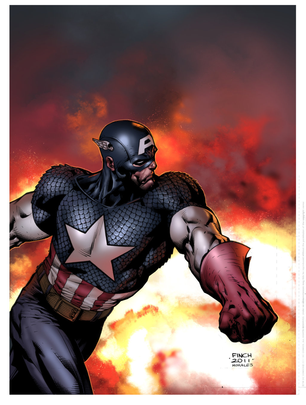 westcoastavengers:  Captain America by David Finch