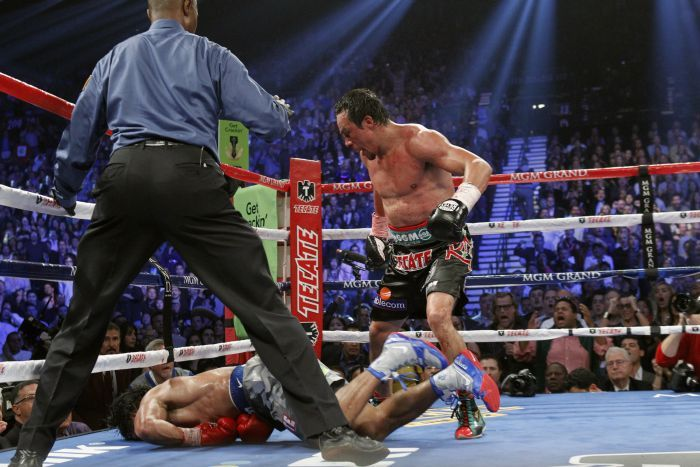 We don't mean to be cold, but not only did Pacquiao lose… this is how he finished the fight.