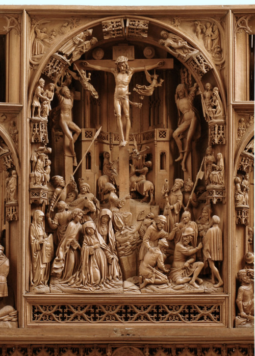 Center panel of the High Altar of Saint John's church in Osnabruck, Lower Saxony, Germany