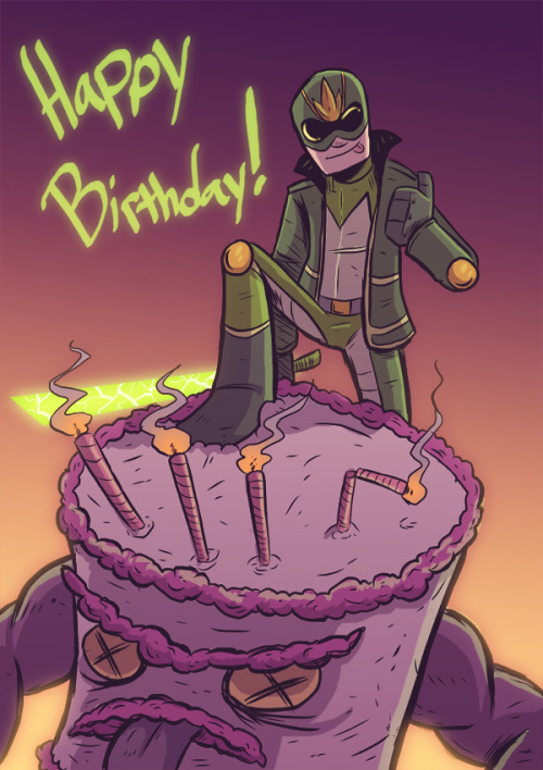 Yet another birthday card… doodle… thing for Caleb. Go read his comic so this picture makes sense. At least sorta.