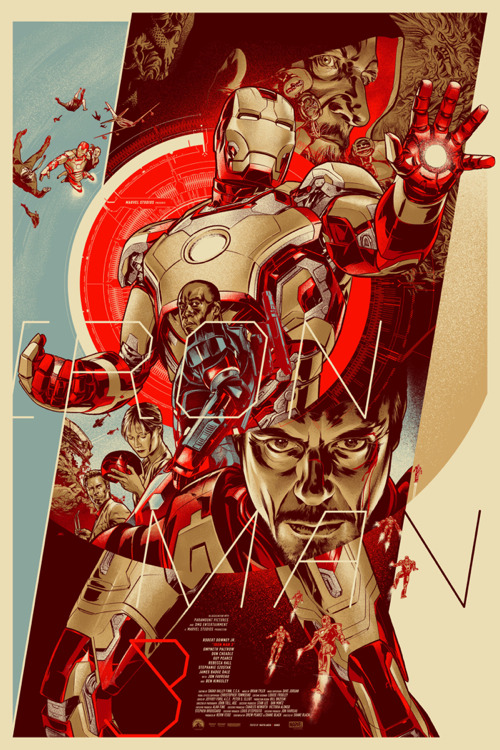 Iron Man 3 poster by Martin Ansin