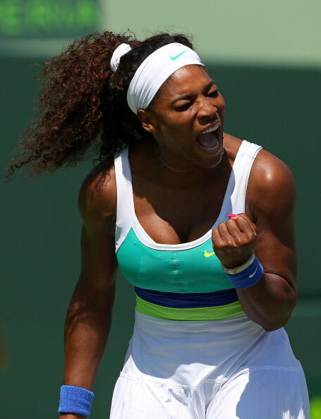 Maria Sharapova - .@SerenaWilliams captures a record 6th @SonyOpenTennis title with a comeback 46 63