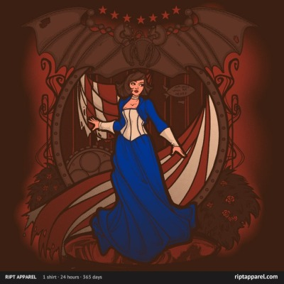 gamefreaksnz:  Elizabeth Nouveau by Khallion US $10 for 24 hours only Artist: Redbubble | Facebook | society6