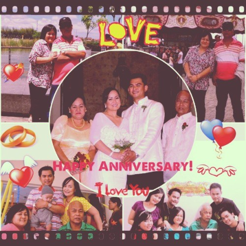 Happy Anniversary Ate and Kuya at syempre sa aming Nanay at Tatay. #happy #family #love #faith #trust #instapic #instacollage