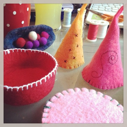 Little creations from my wet felting experiments! 😊