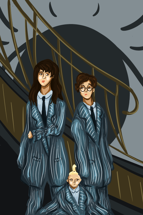 flannelbian:  @ netflix you better give me the baudelaires in oversized pinstripe suits or youre a coward