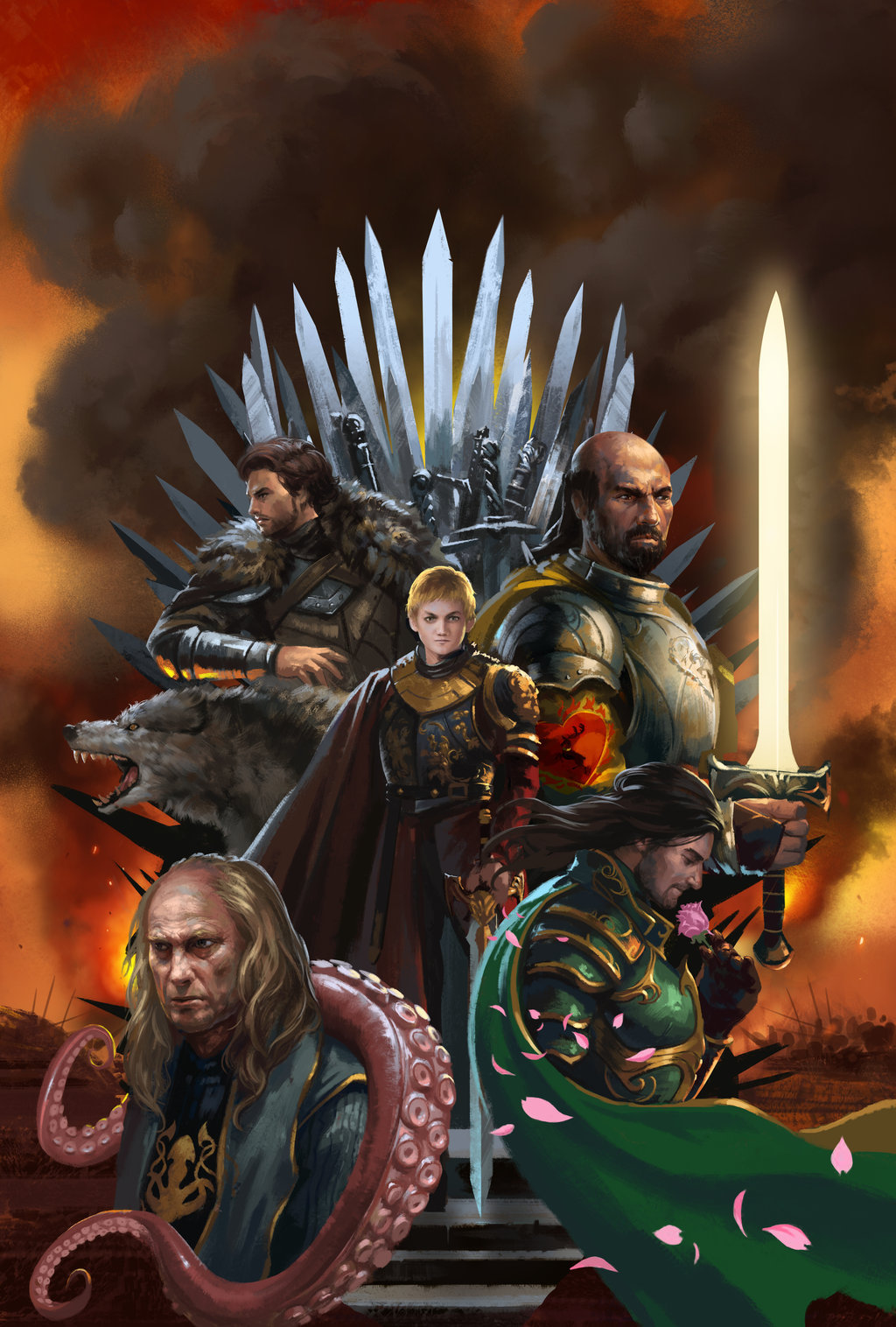 galleryofthrones:  The War of Five King by *zippo514