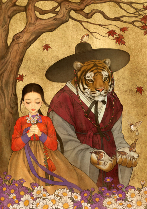 newmodernhanbok:  Illustrators 흑요석 http://blog.naver.com/obsidian24