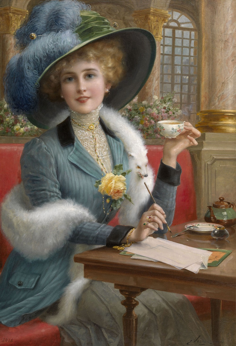 "From Paris with Love. Emile Vernon (French, 1890–1920). ""… for anywhere is better than Paris. Paris the cold, Paris the drizzly, Paris the rainy, Paris the Damnable. More than a hundred years ago somebody asked Quin, ""Did you ever see such a winter in all your life before?"" ""Yes,"" said he, ""Last summer."" I judge he spent his summer in Paris."" — Mark Twain, in a letter"