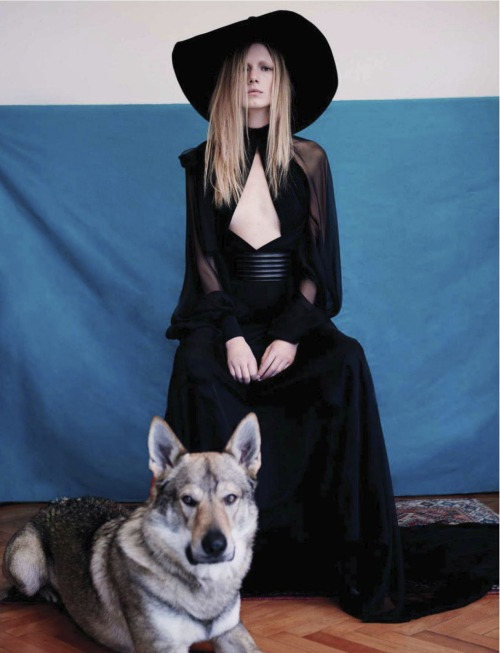 """The mistress of all evil"". Alyona Osmanova by Alessandro dal Buoni for L'officiel Italy February 2013"