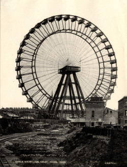 The 94m Great Wheel at Earls Court, world's tallest Ferris wheel 1895-1900 (via Lost London)