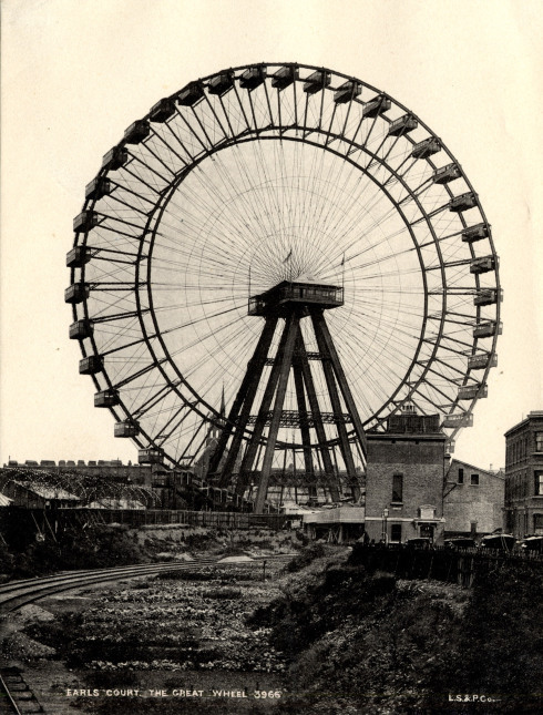 evocativesynthesis:  The 94m Great Wheel at Earls Court, world's tallest Ferris wheel 1895-1900 (via Lost London)