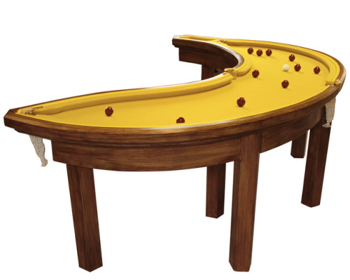 laughingsquid:  Pool Table Shaped Like a Banana