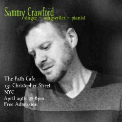 Please join me Monday night 4/29 in the West Village, NYC!