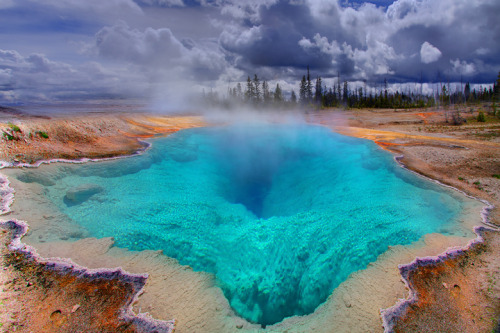 The Deep Blue Hole In Yellowstone by Kevin McNeal