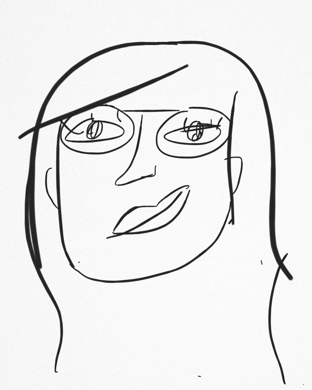 I'm ~such~ an artist.   My self-portrait is uninterested.