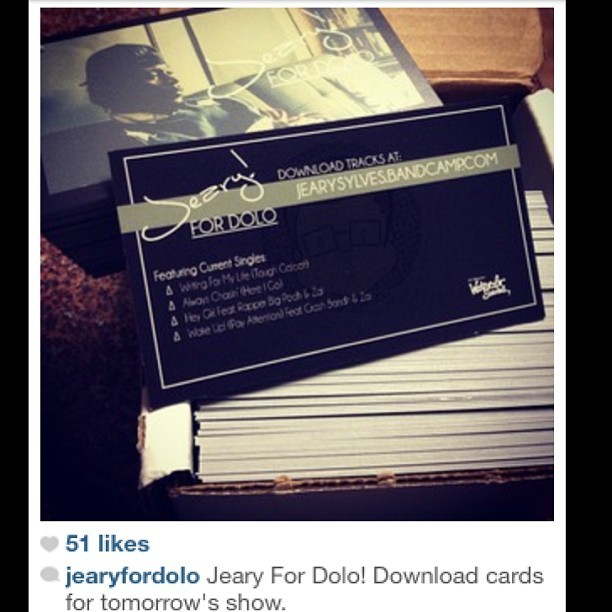 Download cards I did for @jearyfordolo He opens for Miguel tomorrow night in Phx! #design #music #dolo #RP